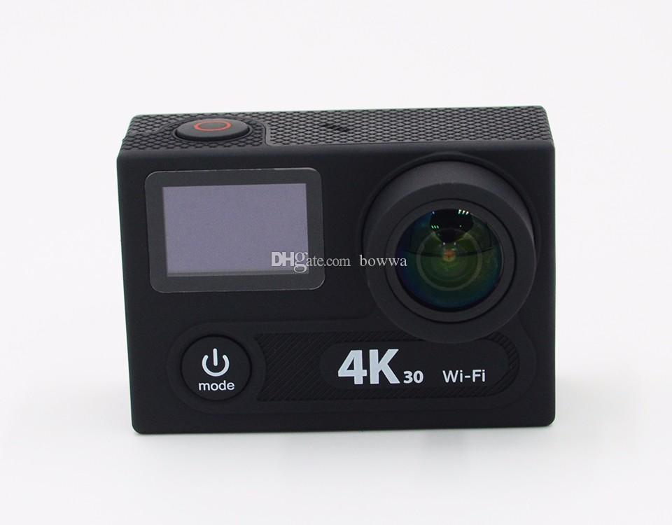 New H8R H8 Ultra 4K HD 2 inch 170° 360 VR HDMI WIFI Action Cameras Dual Screen Waterproof Sport Camera + Remote Control DV DVR DHL Retail