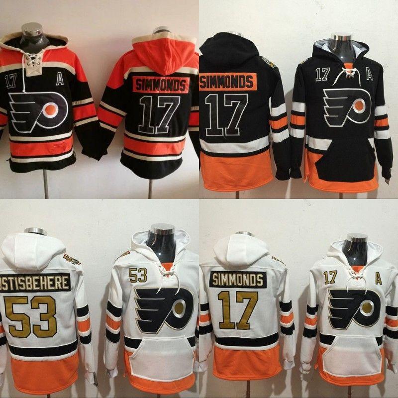 buy popular 0abd3 a889e #17 Wayne Simmonds Philadelphia Flyers Hockey Jersey Hoodies 100  Anniversary Patch Men s Stitched Embroidery Logos Sweatshirts Jerseys