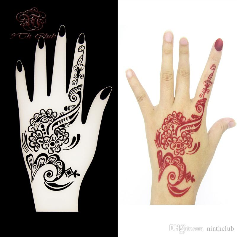 New Henna Hand Tattoo Stencils Flower Lace Glitter Airbrush Mehndi IndianTatoo Large Templates For Painting 20105cm Transfer Paper Printer Tshirt