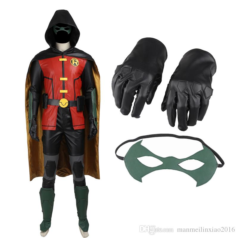 New Titans Justice League Vs Teen Titans Robin Cosplay Costume Any Size Custom Made High Quality Baby Halloween Costume Kid Costumes From Manmeilinxiao2016 ...  sc 1 st  DHgate.com & New Titans Justice League Vs Teen Titans Robin Cosplay Costume Any ...