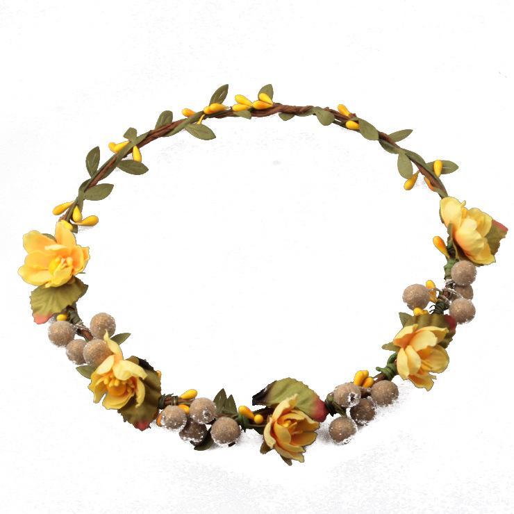Rattan Künstliche Beeren Blume Kopfschmuck Stirnband Hairband Kopf Kranz DIY Floral Braut Garland Krone Halo Hochzeit Haarschmuck