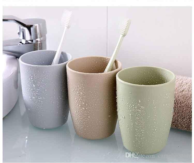 ПП чашки воды Кубок пластиковые стаканчики для зубных щеток пары щетка чашки домашний туалет простая стиральная прорезыватель Cupwash чашки