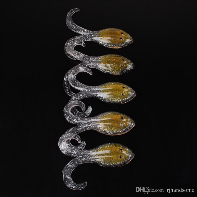 New Transparent octopus soft bait 10cm 14.6g soft fish fishing lure for reshwater fishing