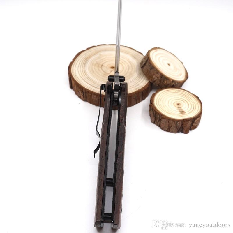 Popolare Browning Knife X45 Caccia Pocket Knife 5CR15MOV Lama in acciaio + manico in legno Utility knife Pieghevole tattico di sopravvivenza Coltelli attrezzi Gear
