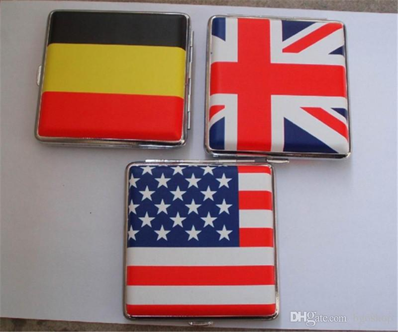 2018 flags tobacco box cigarette box america flag metal box england