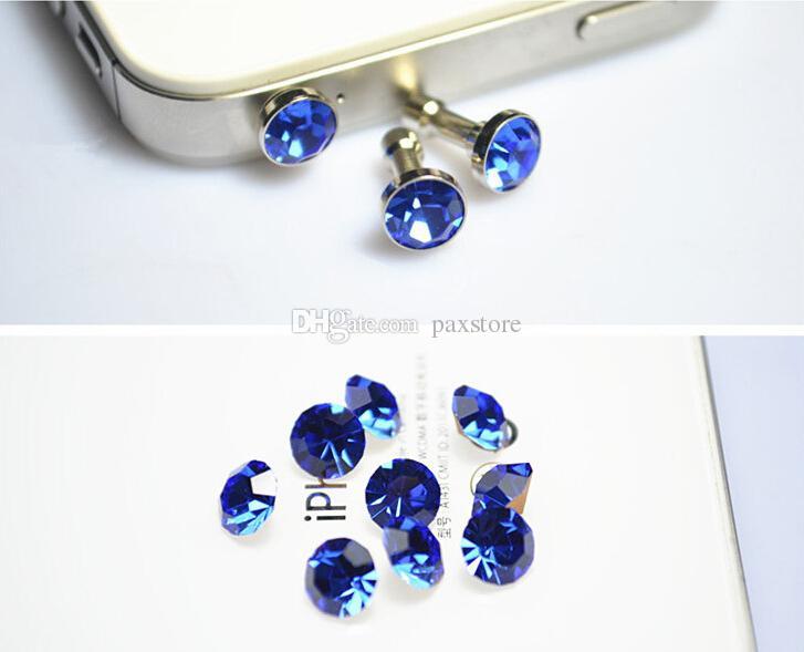 Cellulare anti spina antipolvere antipolvere cristallo diamante da 3,5 mm jack cuffie auricolare smartphone cuffia SPEDIZIONE GRATUITA ALL'INGROSSO