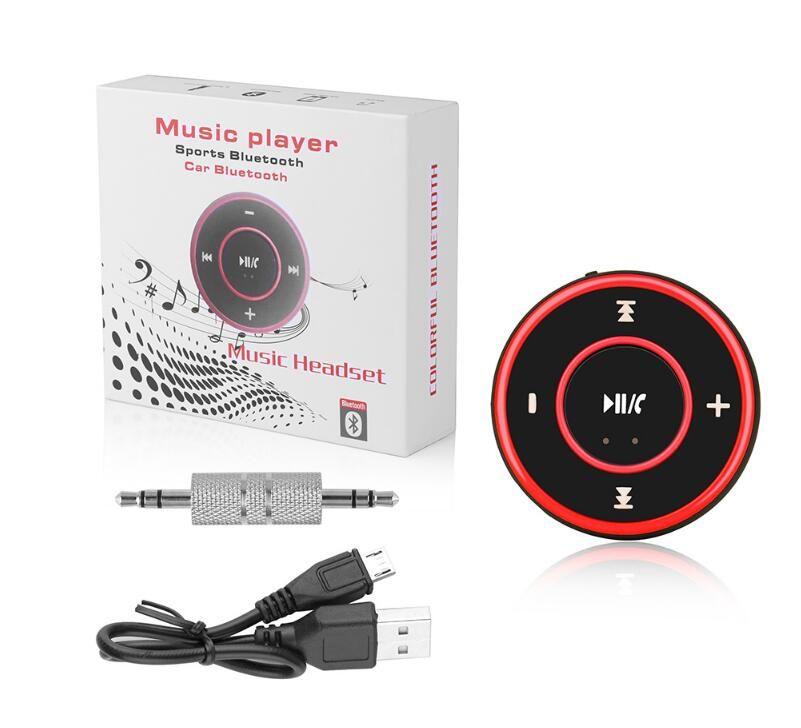 AD-A26 Mini Receptor Sem Fio Bluetooth Carro AUX Música Adaptador de Áudio Estéreo de 3.5mm Aux Jack para Fone De Ouvido Speaker 3 Cores