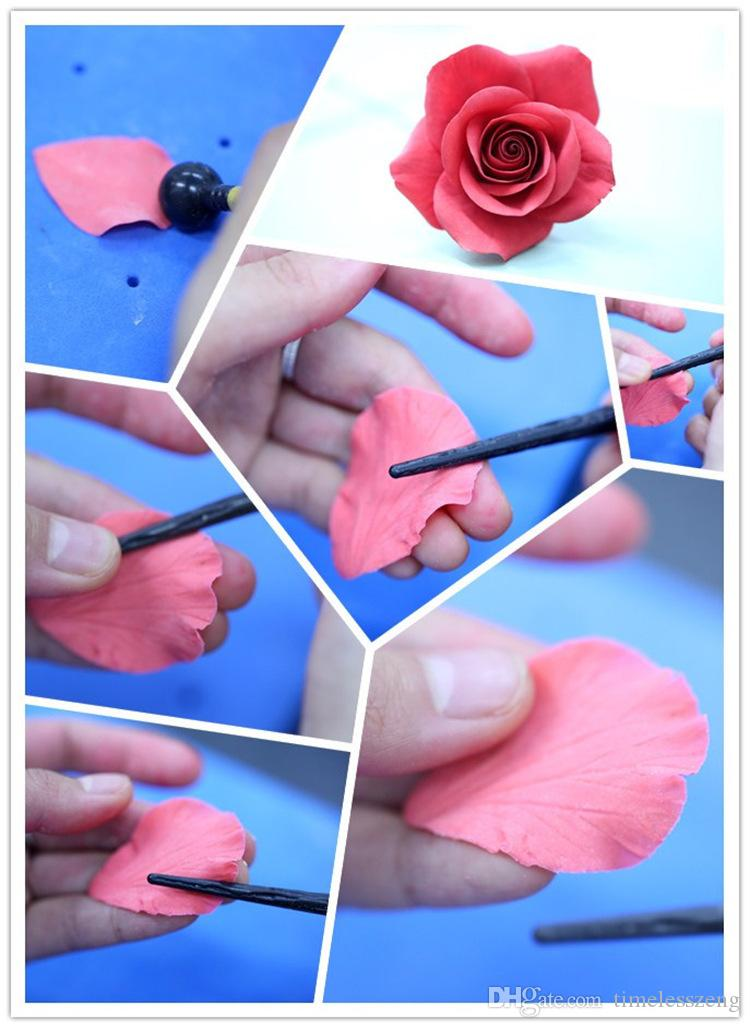 Peony Mold Baking Gadgets DIY Flower Modelling Tool Cake Fondant Biscuits Cake Molds Cake Carved Pens