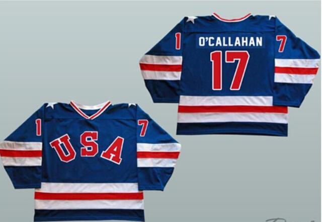 2019 1980 Miracle On Ice Team USA 17 Jack O Callahan S 3XL Ice Hockey  Jerseys Blue White Stitched Jack O Callahan Usa Hockey Jersey From  Moviejerseymall d934a0881