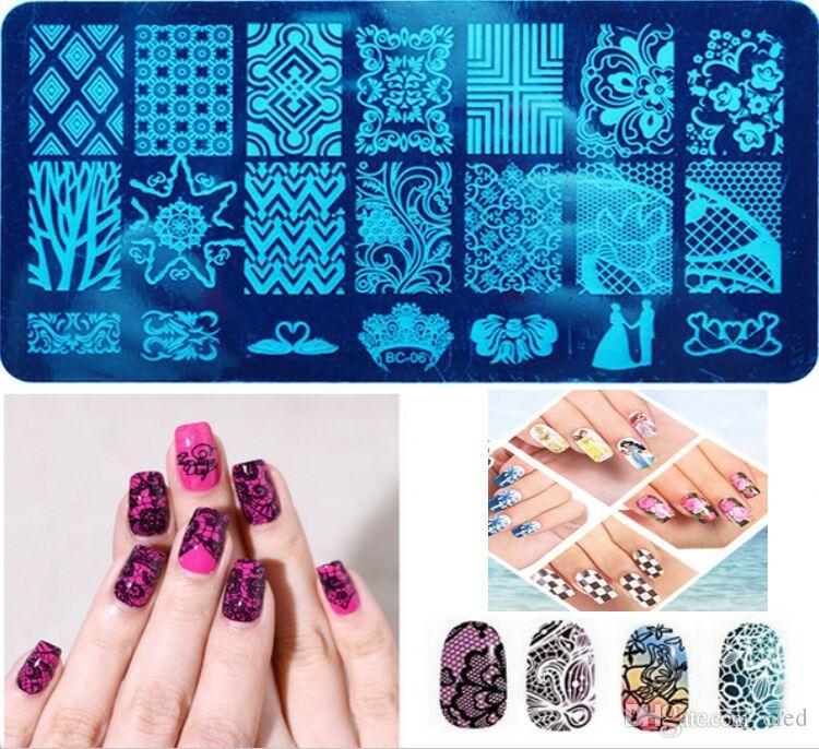 New Nail Art Template 20 Designs Diy Manicure Tools Nail Art ...