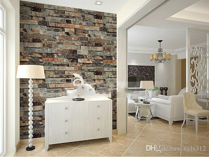 3d papier peint pierre moderne salle à manger papier fond papier peint PVC  rouleau brique papier peint