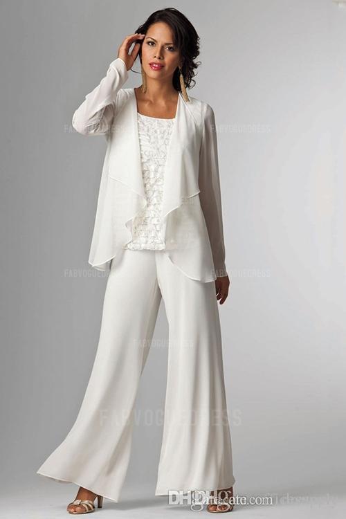 Zarif Şifon Lady Pantolon Ceket Suits Ile Gelin Damat Ceket Artı Boyutu Kadın Parti Elbiseler Pantolon Suit