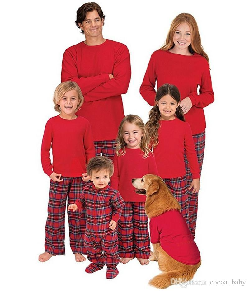 2018 new year family matching christmas pajamas pjs sets kids adult xmas sleepwear nightwear clothing set matching outfits for mommy and daughter creepy