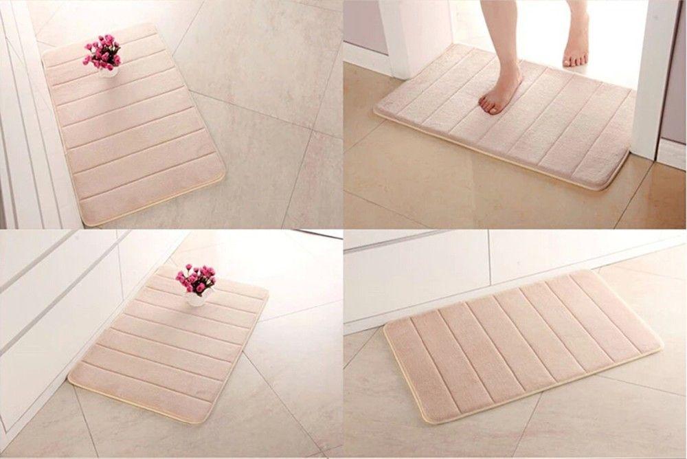 Simple Design Memory Foam Bath Mat Soft Warm And Strong Anti-slip Mat In The Bathroom Bedroom Stripes Mat Tapis De Bain 40*60cm