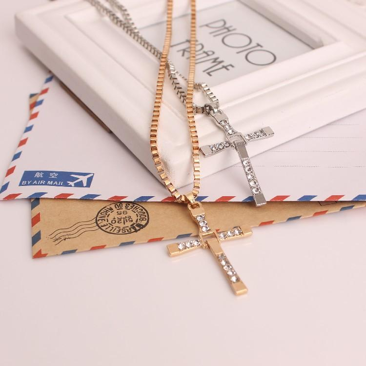 Wholesale classic mens rosary necklaces pendants cross necklace wholesale classic mens rosary necklaces pendants cross necklace charms 18k plated gold rhinestone crystal jesus cross pendant necklaces charm jewelry aloadofball Image collections