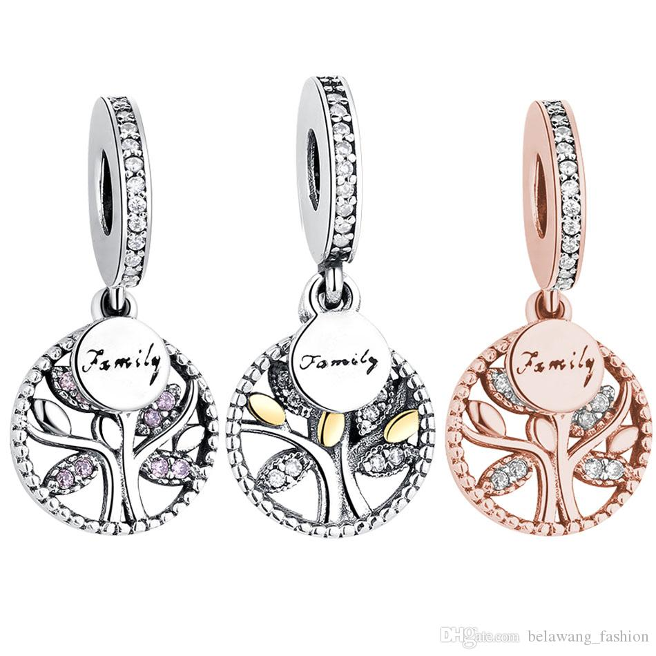 61711a0d9 BELAWANG 3 Styles 925 Sterling Silver Family Tree Charms Cubic ...