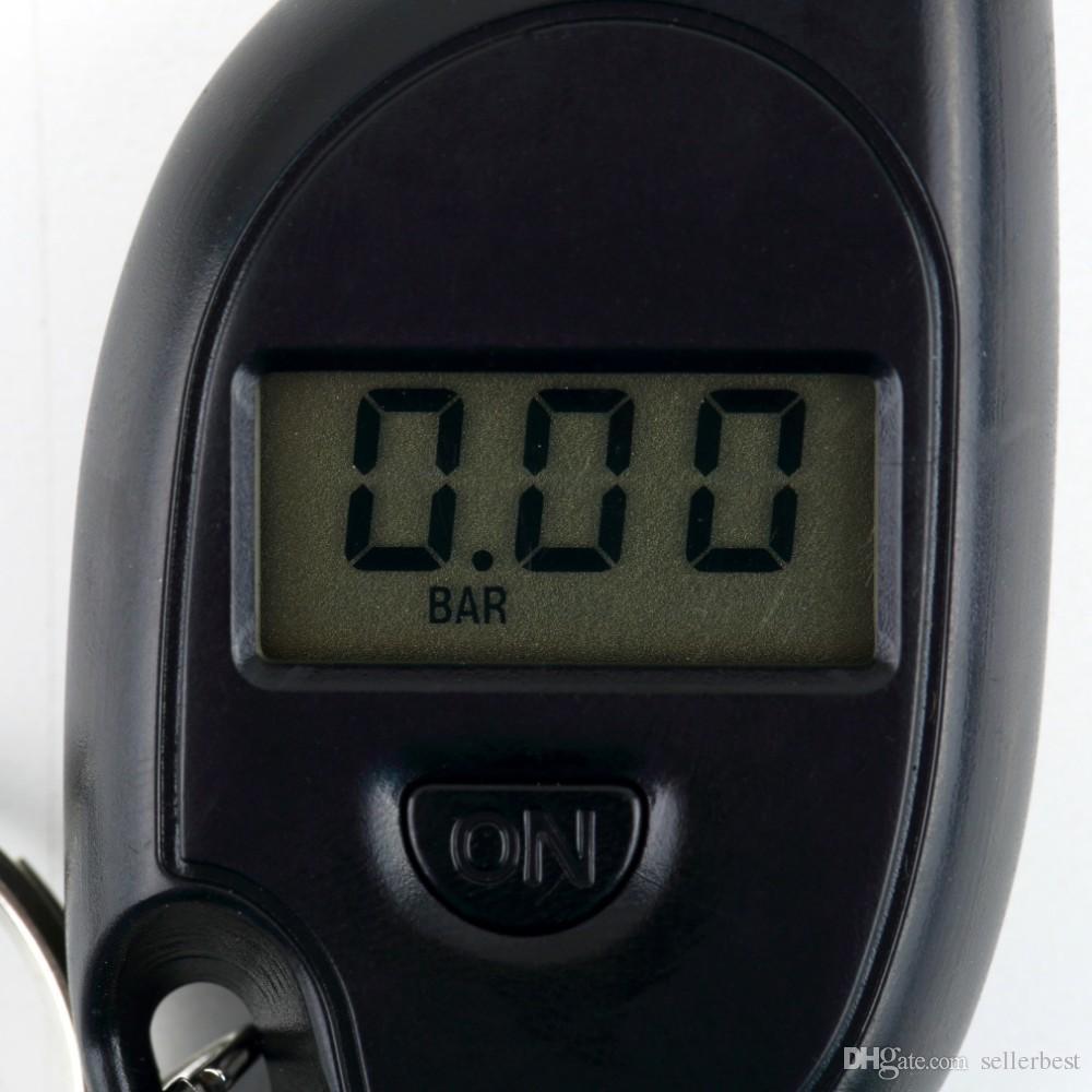 VT708 VT-708 Mini Display LCD portachiavi Digital Car Wheel Meter Test Tester Tester Veicolo Auto Moto 5-150 PSI Tire Air Pressure Gauge