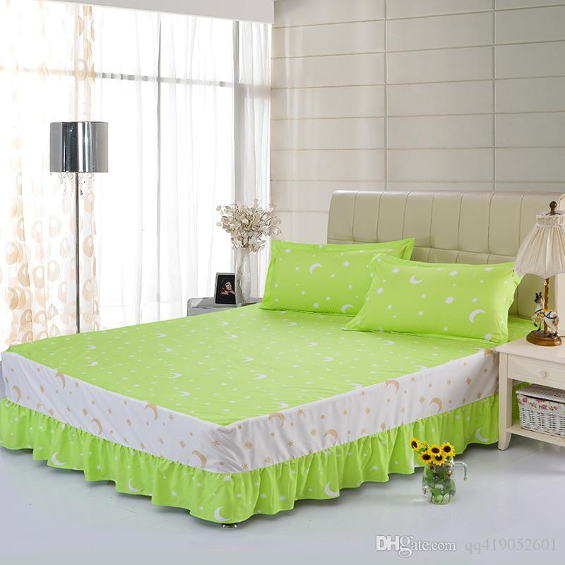 2018 Home Textile Single Bed Skirt/Spreads Set Fitted Sheet/Sheets Queen  And King Size Bed Cover 100%cotton B 46 From Qq419052601, $13.57 |  Dhgate.Com