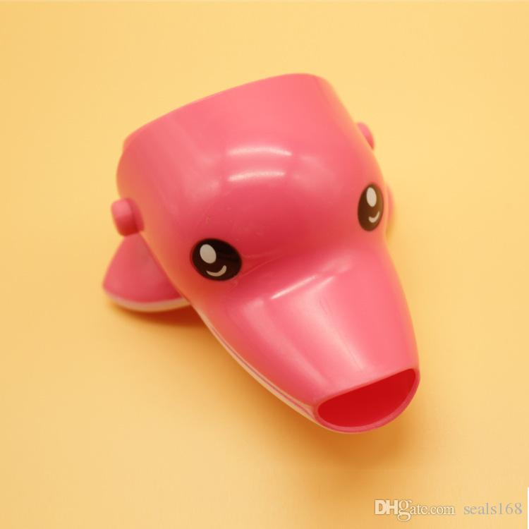 Cartoon Animal Baby Kids Elephoant Dolphin Duck Water Tap Faucet Extender Washing Hands Accessories 5 Styles HH-T54