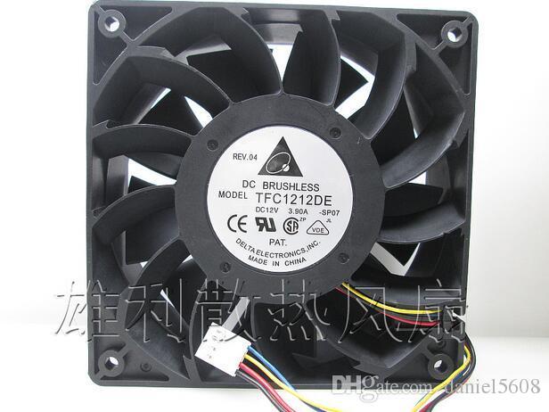 Delta TFC1212DE 12V 3.9A 12cm 120 * 120 * 38mm 4 línea I Ventilador ventilador violento gran ventilador