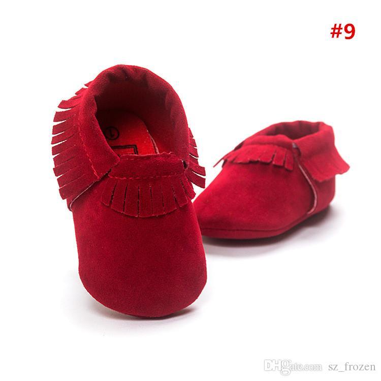 2017 mocassins de couro de vaca mocassins borlas botas de inicialização moccs infantil menina menino rendas sapatos de couro prewalker botas sapatos de crianças A-0486