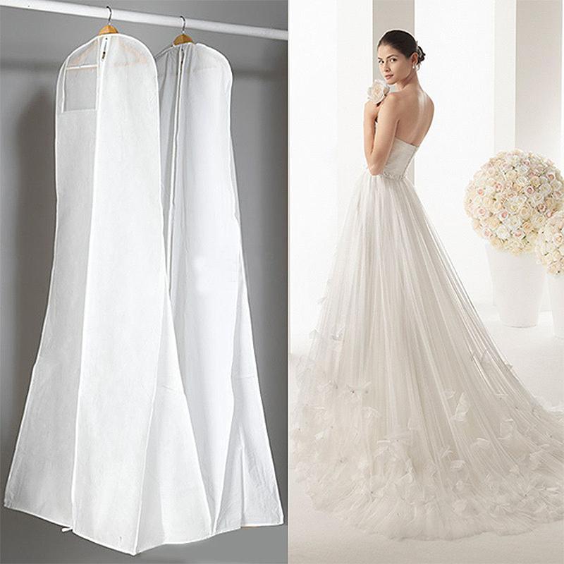 cheap for discount b223d c6fc7 Coprispalle per abiti da sposa bianco nero Abiti lunghi da viaggio  impermeabile custodia antipolvere per proteggere la borsa da indumento