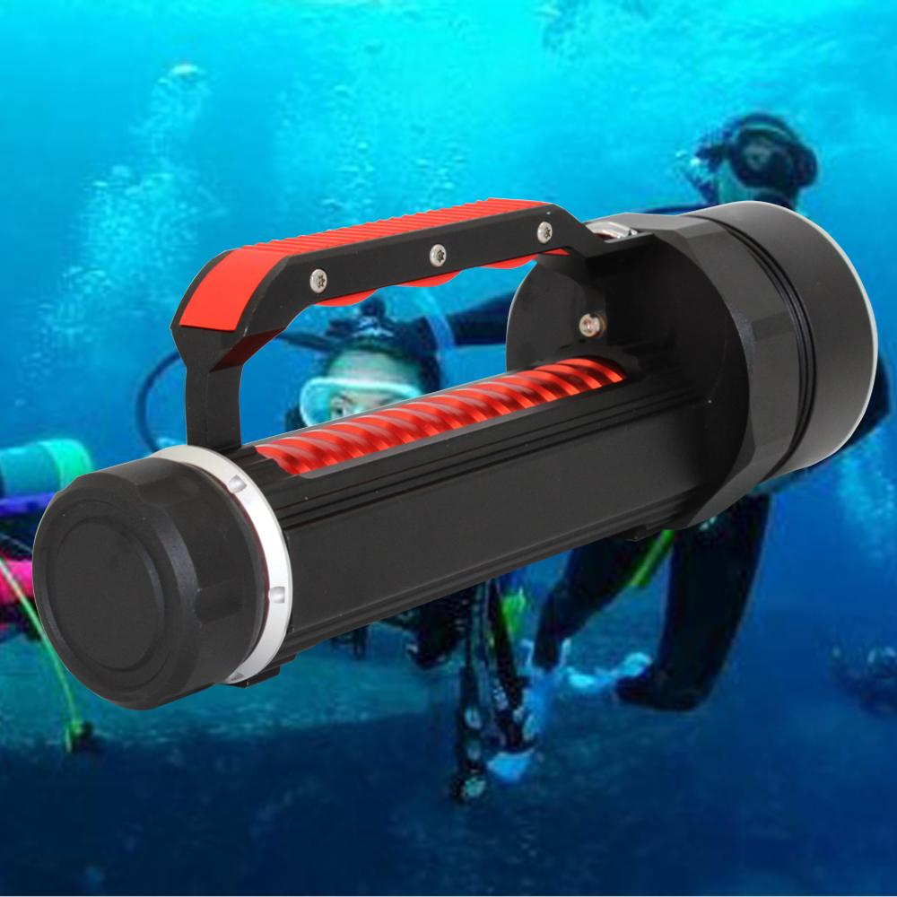 T6 1000LM LED Scuba Diving Flashlight Submersible Torch Light Underwater 100m UK