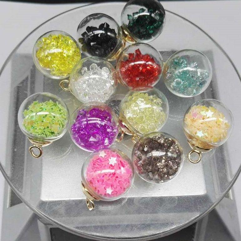 16 мм Mix DIY Mini Glass Ball бутылки подвески флаконы кулон crystal Clear Wish бутылка с бисером ювелирные изделия аксессуары