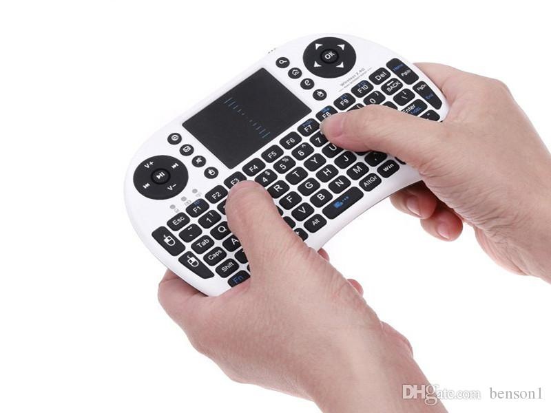 Mini Rii i8 Wireless Keyboard 2.4G English Air Mouse Keyboard Remote Control Touchpad for S905X S912 TV Android Box T95 X96