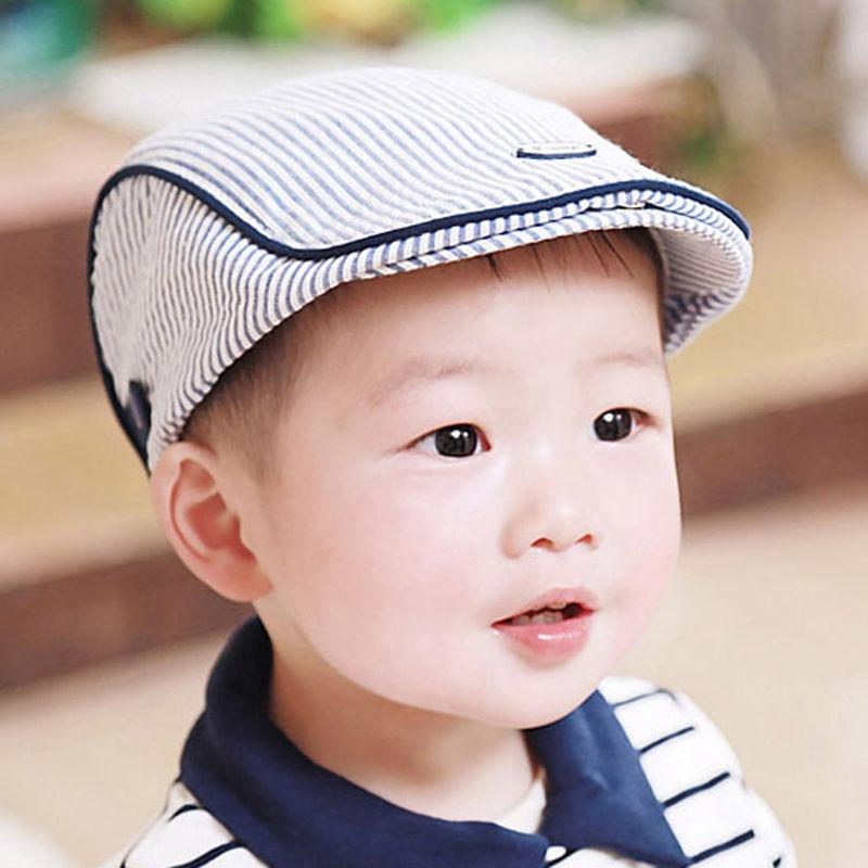 2019 Baby Kids Infant Boy Girl Simple Stripe Design England Style Baby Hats  Boy Cap For Child Girl Beret Kid Gift From Wedi011 f0c82da9172a