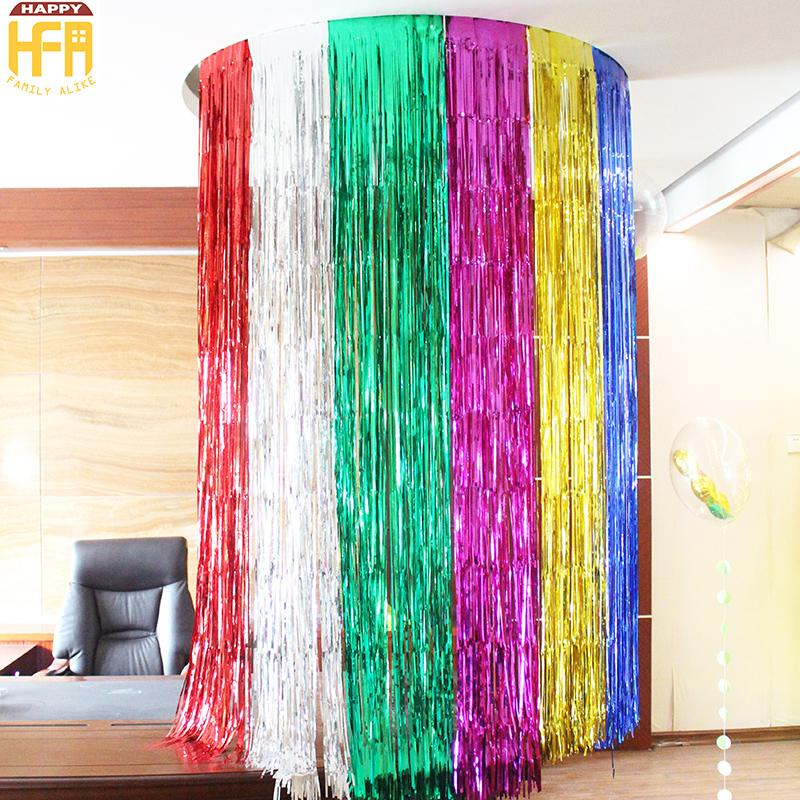 Coloured Ribbon Color Bar Wedding Birthday Party Decoration Balloon
