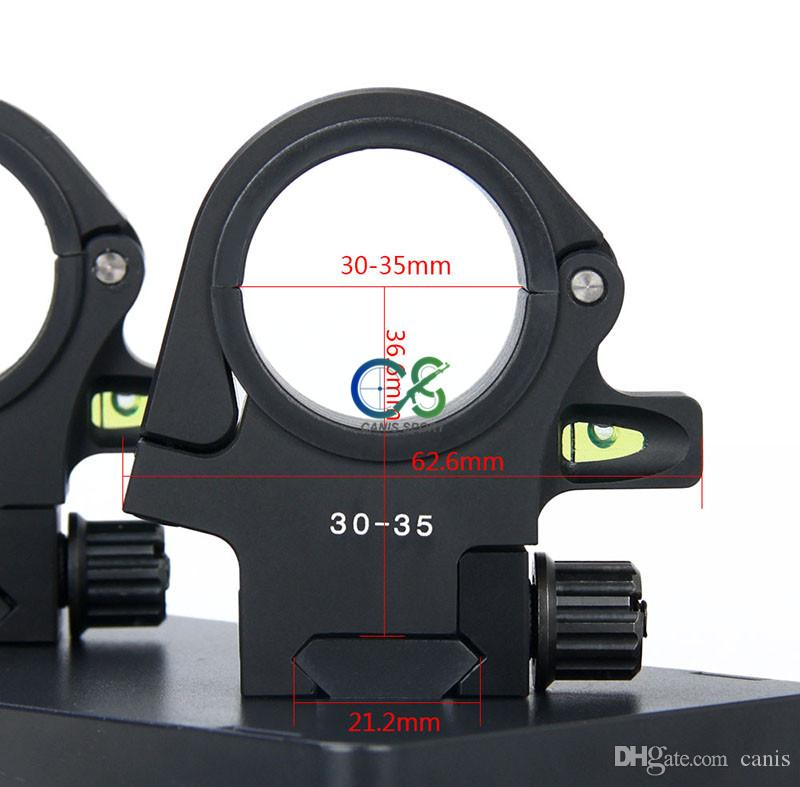 New 6082 Aluminum 30-35mm Scope Mount with Bubble Level for Outdoor Sprot Use CL24-0158