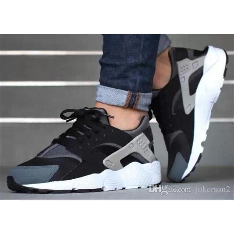 b6ce1b4779cf 2016 New Top Quality Air Huarache Shoes Unisex Men Women All Black ...