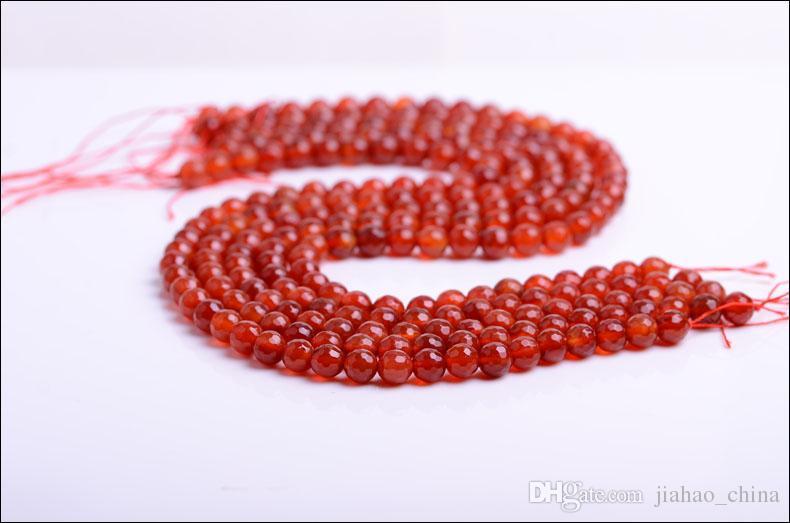 Natural de pedra jóias populares Brasil facetada vermelho branco preto Onyx moda jóias colar do encanto Mulheres tamanho contas: 6 mm