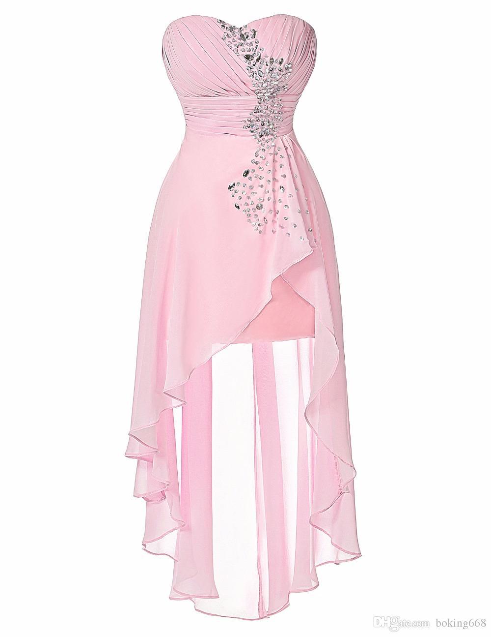Compre 2016 Vestidos De Fiesta Corto Espalda Larga Espalda Formal ...