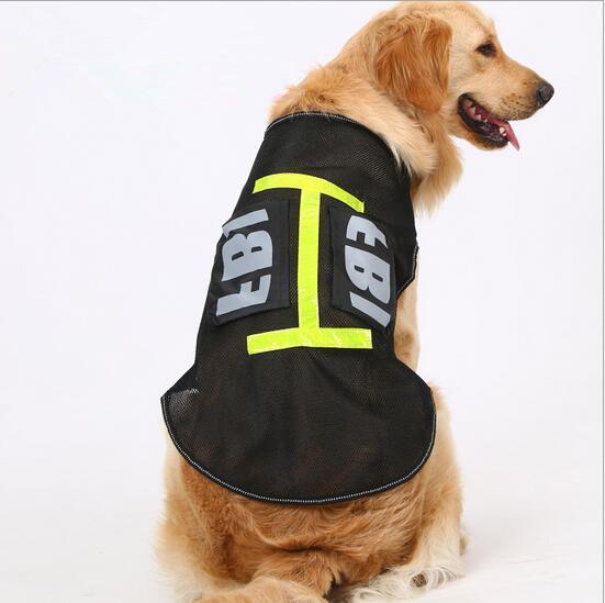 Pet Köpek Yansıtıcı Giysi Çalışma Büyük Köpek Giyim Tarzı Ceket Köpek Yelek Yaz Giyim Kostüm Ceket F