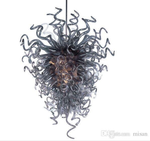 도매 현대 램프 호텔 로비 유리 샹들리에 펜던트 조명 이탈리아 패션 스타일 체인 샹들리에 빛