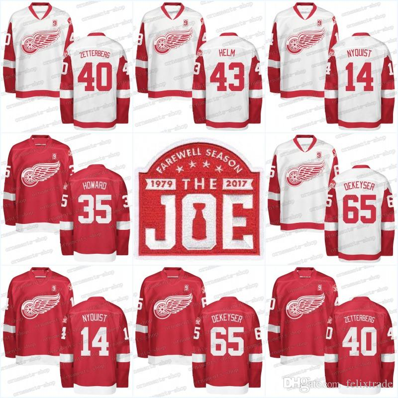 1b2753b6b 2019 Detroit Red Wings 9 Gordie Howe Jersey Mr. Hockey Patch Commemorative  Patch 14 Gustav Nyquist 15 Riley Sheahan 21 Tomas Tatar Hockey Jerseys From  ...