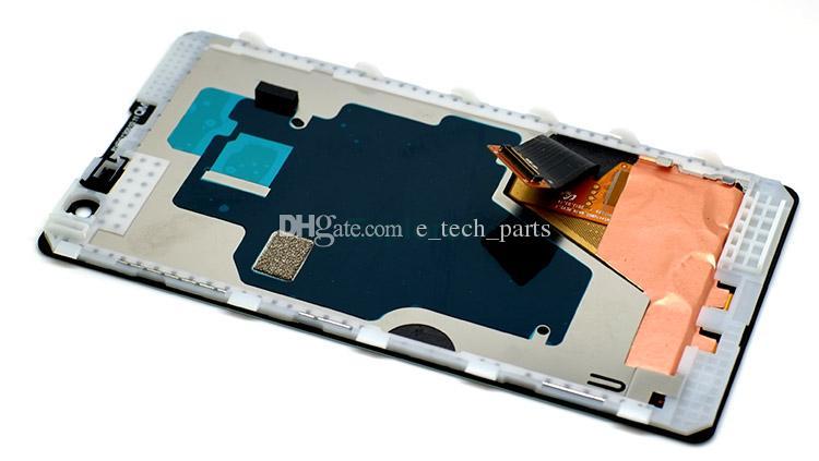 العرض LCD + شاشة تعمل باللمس محول الأرقام الجمعية مع الإطار الزجاج المقسى لنوكيا Lumia مرت 1020 LCD اختبار 100٪ جديد الأصل لوط
