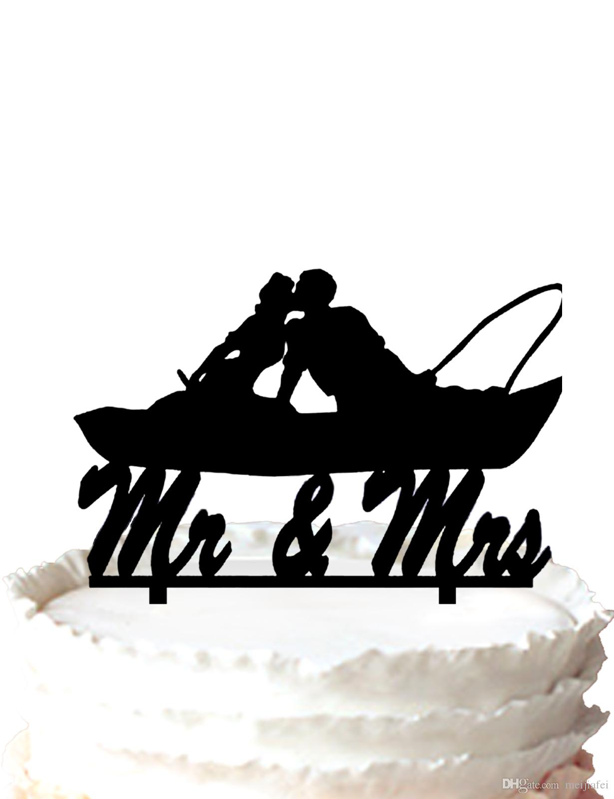 Silhouette Mr And Mrs Wedding Cake Topper,script the Fall Leaf ...