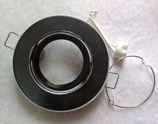 CONDUZIU a luz de teto MR16 soquete do suporte de luz \ led lâmpada copo luminárias de alumínio 602L preto