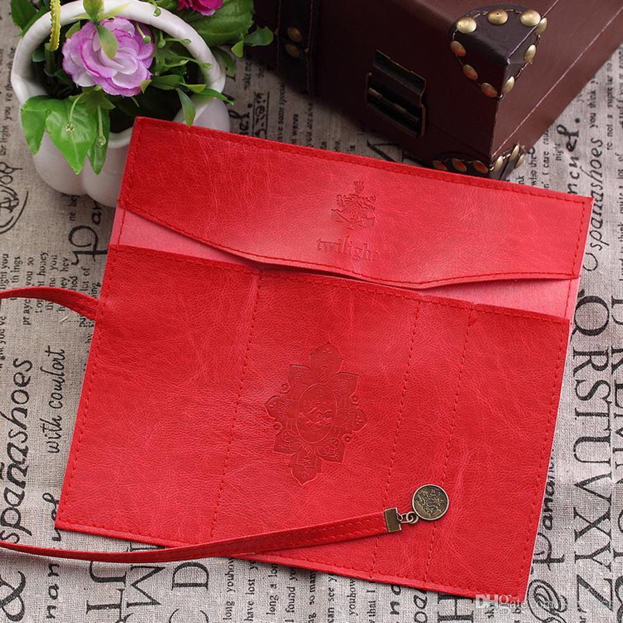 Vintage Retro Rolle PU Leder Make-Up Kosmetische Stift Federmäppchen Tasche Handtasche Tasche für die Schule