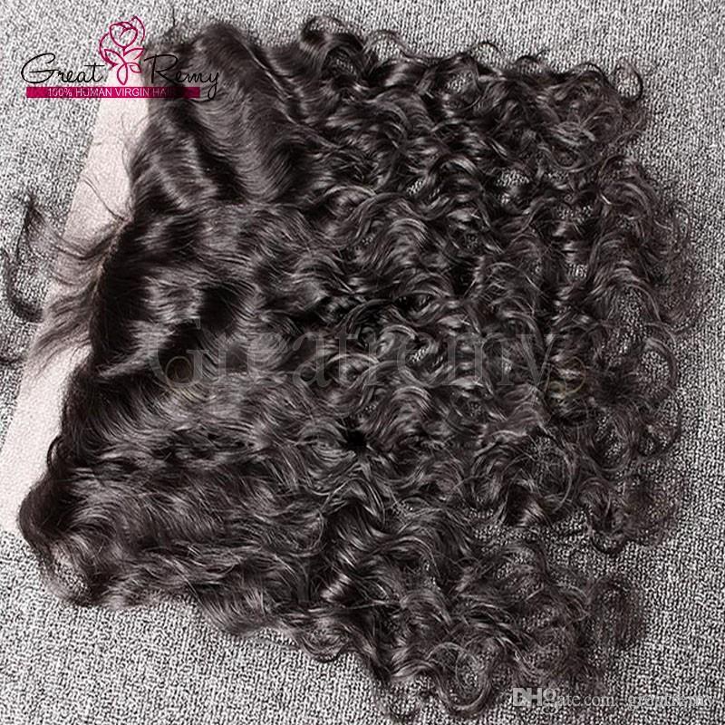 4шт перуанские естественная волна норковые ткет волос с 13x4 Кружева Фронтальная Закрытие Greatremy Минк Деве человека Связки волос с уха до уха фронтального