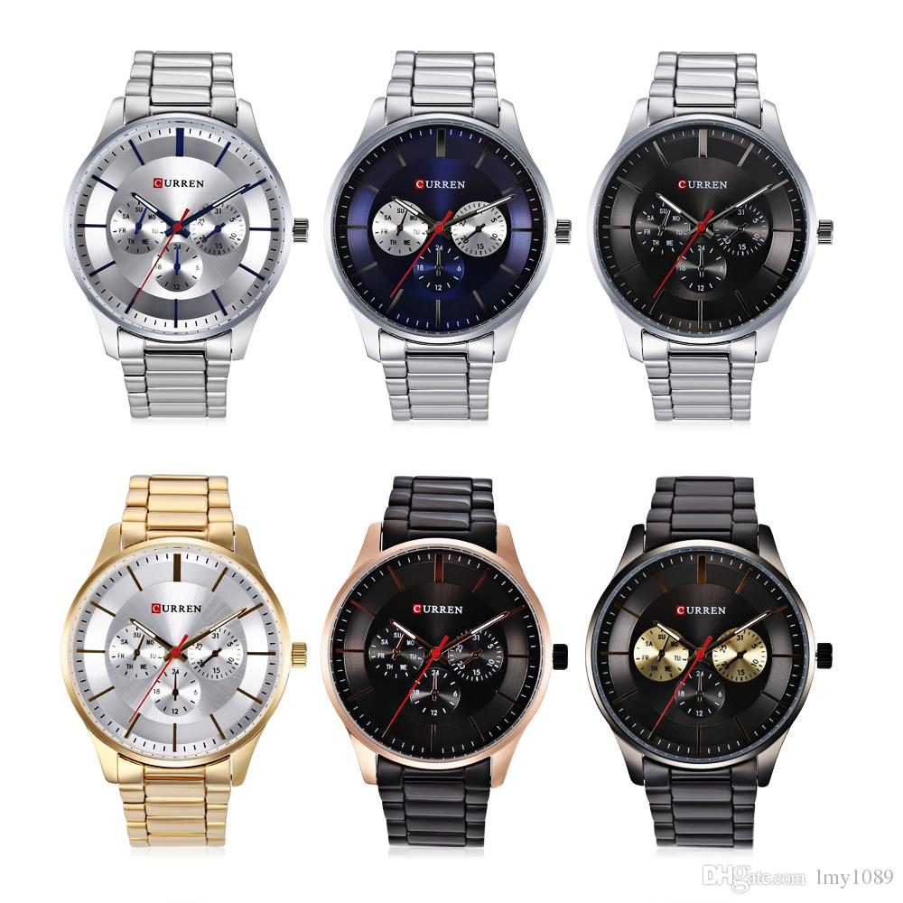 auto in masculino business casual on watches calendar from strap watch leather men wrist relogios brown date quartz item