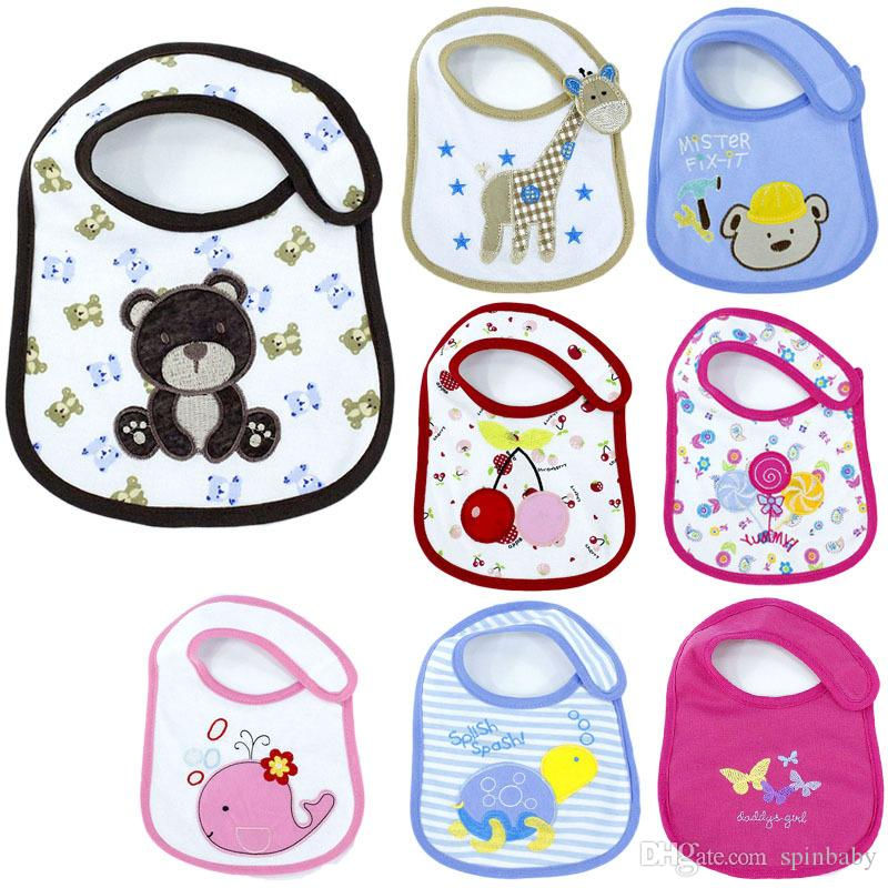 Hot Sale Cotton Baby Bib Infant Saliva Towels Baby Waterproof Bib Cartoon Baby Wear With Different Model