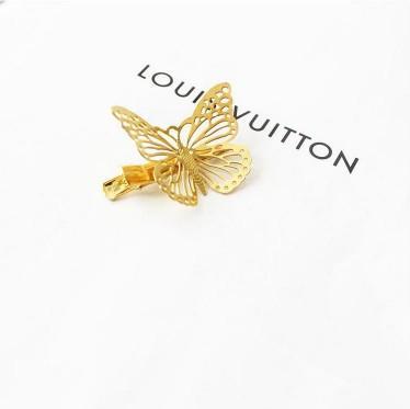 Butterfly Gold Tone Bridal Headwear Hollow Out Womens Hair Barrettes Clip Hair Jewelry Metal Hair Accessories