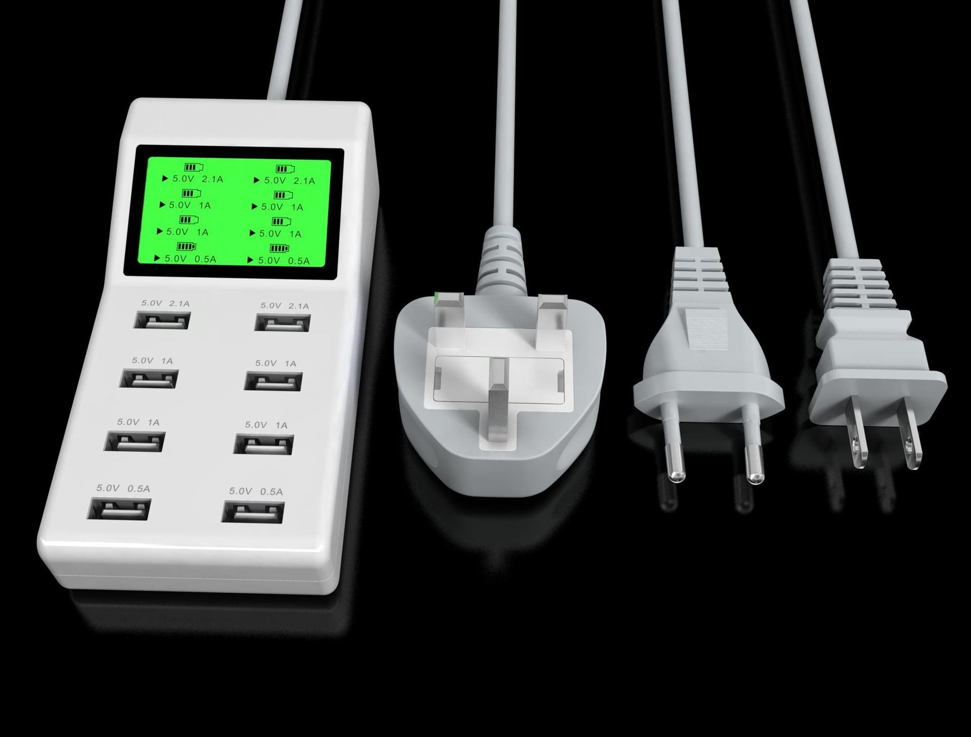 Affichage LED intelligent IC identification automatique USB chargeur de téléphone portable chargeur rapide de téléphone portable