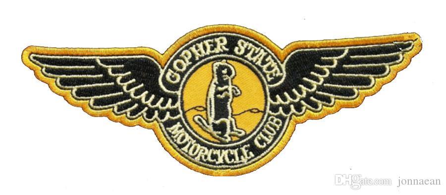 HEISSER VERKAUF GOPHER-ZUSTAND WEINLESE-ART CIRCA 1945 MOTORRAD-KLUB-WESTE AUSGANGS-BIKER MC-JACKE-PUNK-COOLEST-EISEN AUF WEST-FLECKEN-FREIES VERSCHIFFEN