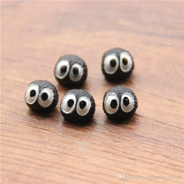 Lindo negro Briquetas duendes miniaturas de jardín de hadas mini gnomos musgos terrarios resina artesanías figuritas para decoración de jardín