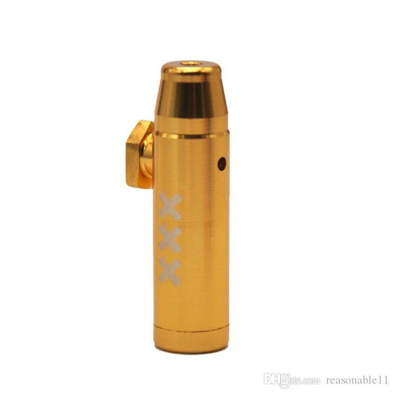 Alüminyum Metal Bullet Roket Şekilli Snuff Snerter Sniff Dispenser Nazal Sigara Boru Sniffer Bongs Endable Tobacco Smok Boru